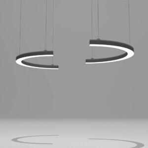 Модульный светильник полукруглый